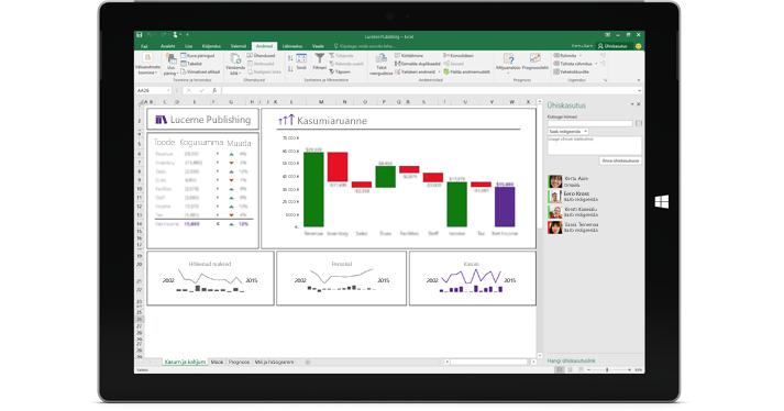 Exceli lehe Anna ühiskasutusse kuvatõmmis, kus on valitud suvand Kutsu inimesi.