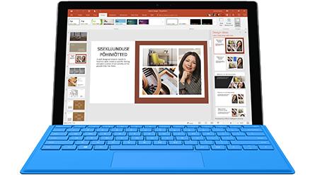 Tahvelarvuti ekraan, kus on kuvatud Wordi uurimispaan Euroopa seljakotimatku käsitlevas dokumendis