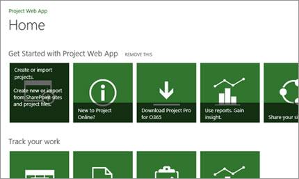 Töö kiire alustamine Microsoft Projecti abil
