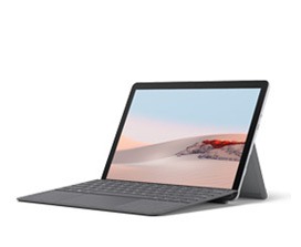 kuva Surface Go 2 -laitteesta ja Surface Go Signature Type Coverista