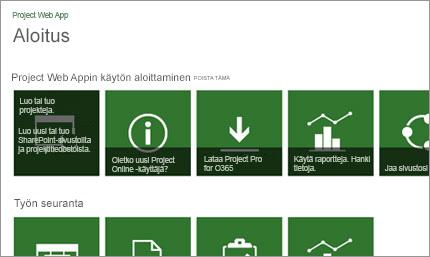 Pääset Microsoft Projectin käytössä nopeasti alkuun