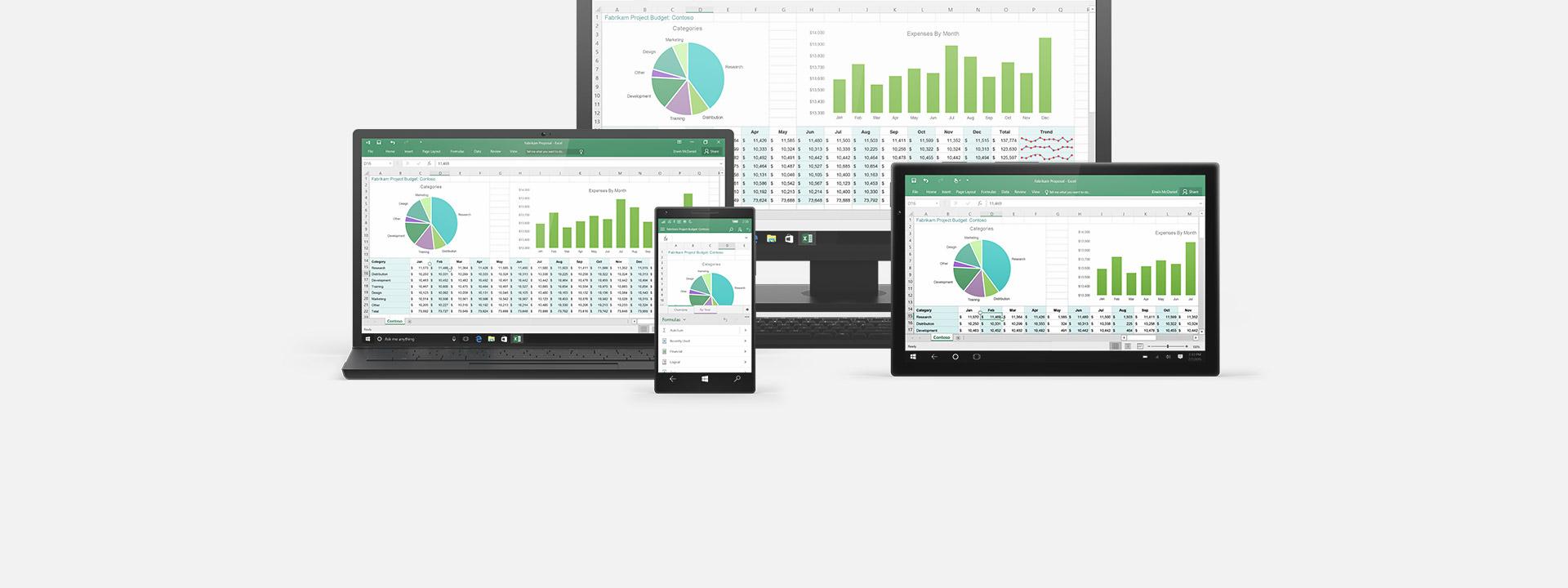 Useita laitteita, lisätietoja Office 365:stä