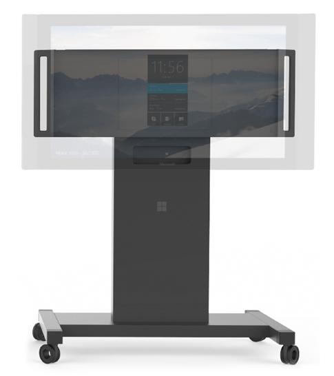 Pyörillä varustettu Surface Hub -jalusta.