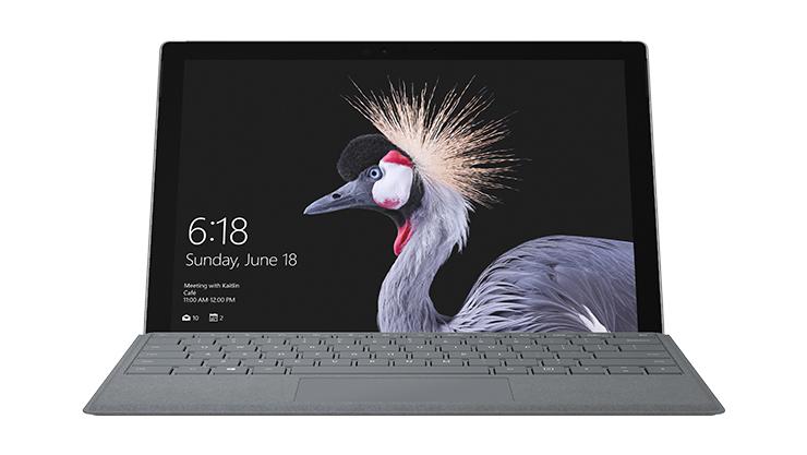 Kuva kannettavasta Surface Pro -tietokoneesta.