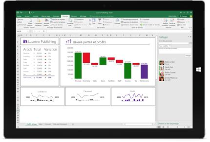 Capture d'écran de la page Partager dans Excel, avec l'option Inviter des personnes sélectionnée.