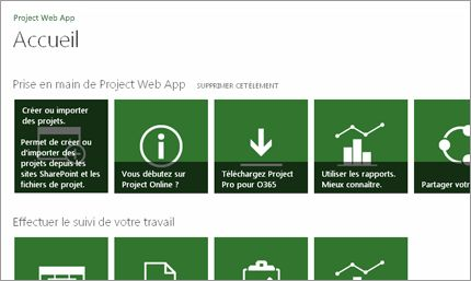 Démarrez en un clin d'œil avec Microsoft Project