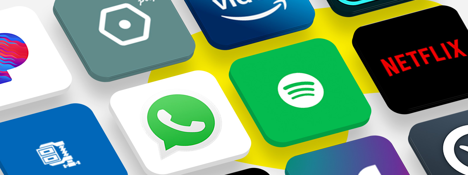 De nombreux logos d'applications populaires