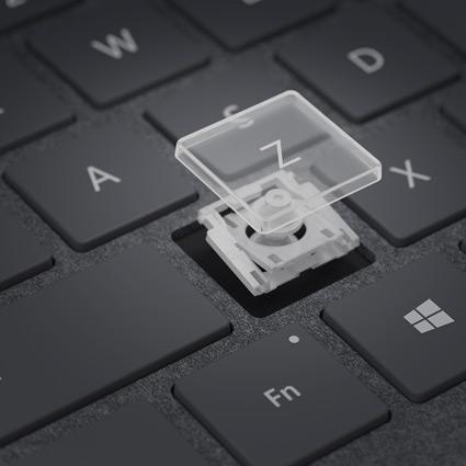 La touche Z retirée du clavier