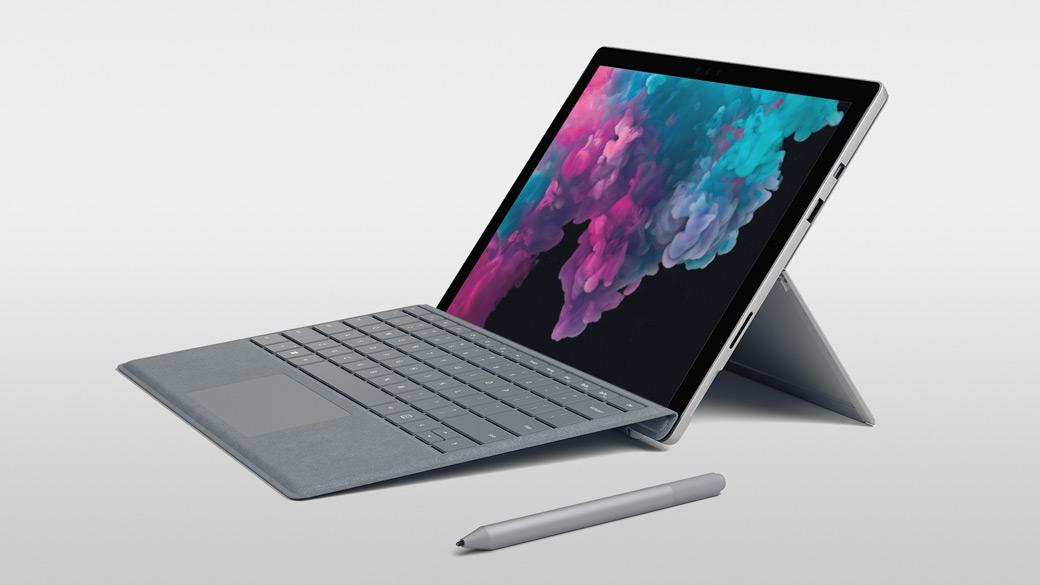 Une Surface Pro 6 avec un stylet numérique