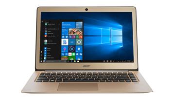 Un ordinateur portable présentant l'écran d'accueil de Windows 10