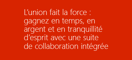Page de titre ebook avec le texte « Better Together: Save time, money, and sanity with an integrated collaboration suite » téléchargez l'ebook « Better Together ».