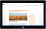 Tablette Windows exécutant une application Office