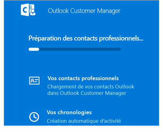 Écran d'ordinateur affichant un plan rapproché d'une section d'Outlook Customer Manager dans Outlook