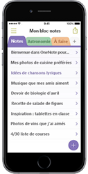 OneNote pour iPhone