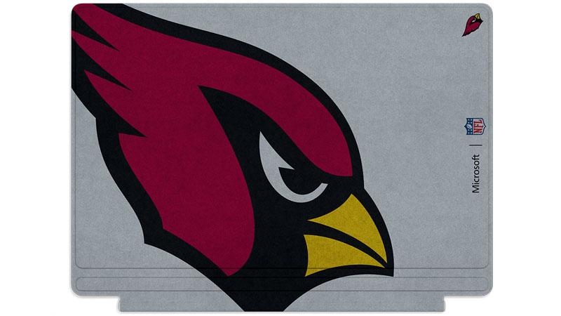 Logo des Cardinals de l'Arizona imprimé sur un clavier Surface Type Cover