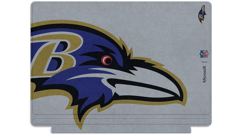 Logo des Ravens de Baltimore imprimé sur un clavier Surface Type Cover
