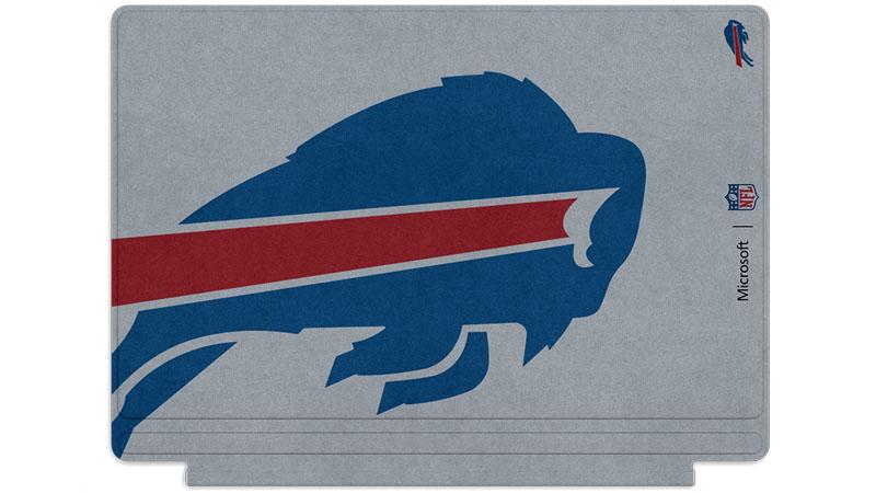 Logo des Bills de Buffalo imprimé sur un clavier Surface Type Cover
