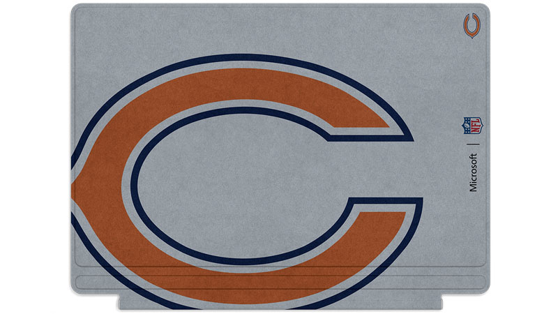 Logo des Bears de Chicago imprimé sur un clavier Surface Type Cover