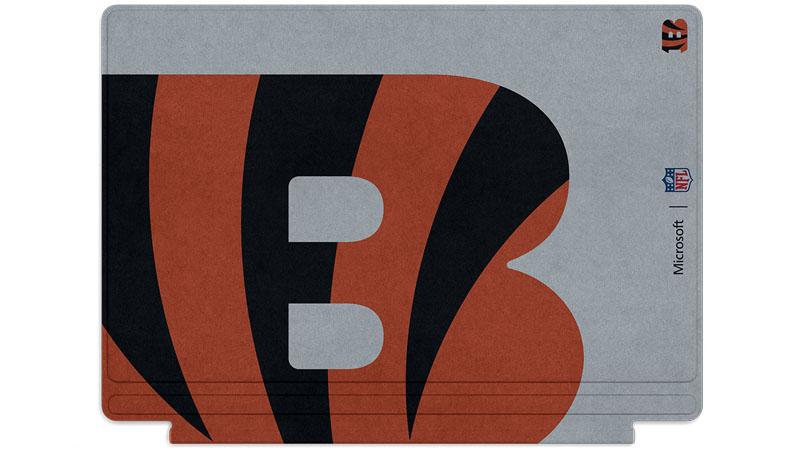 Logo des Bengals de Cincinnati imprimé sur un clavier Surface Type Cover