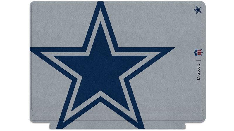 Logo des Cowboys de Dallas imprimé sur un clavier Surface Type Cover