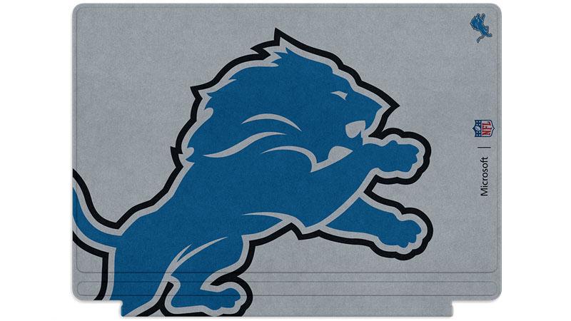 Logo des Lions de Detroit imprimé sur un clavier Surface Type Cover