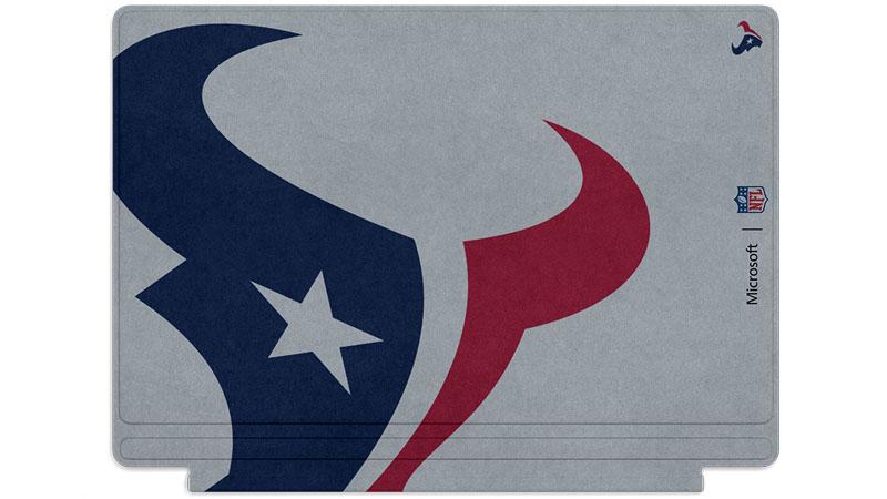 Logo des Texans de Houston imprimé sur un clavier Surface Type Cover
