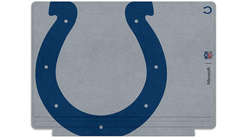 Logo des Colts d'Indianapolis imprimé sur un clavier Surface Type Cover
