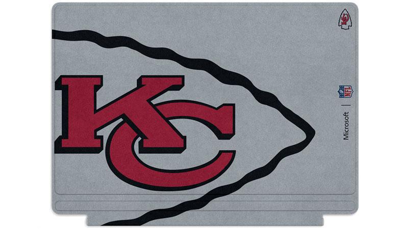 Logo des Chiefs de Kansas City imprimé sur un clavier Surface Type Cover