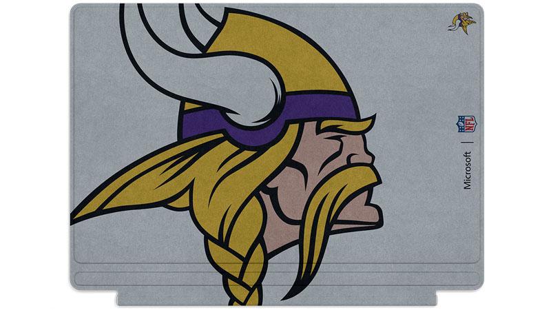 Logo des Vikings du Minnesota imprimé sur un clavier Surface Type Cover