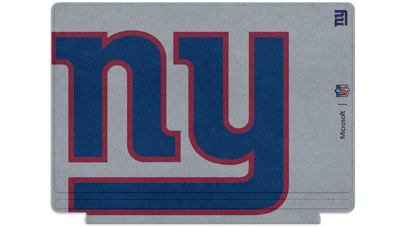 Logo des Giants de New York imprimé sur un clavier Surface Type Cover