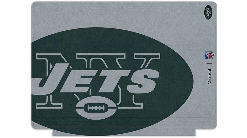 Logo des Jets de New York imprimé sur un clavier Surface Type Cover