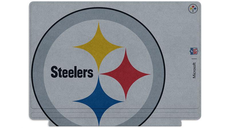Logo des Steelers de Pittsburgh imprimé sur un clavier Surface Type Cover