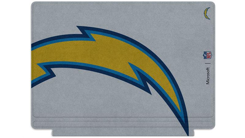 Logo des Chargers de San Diego imprimé sur un clavier Surface Type Cover