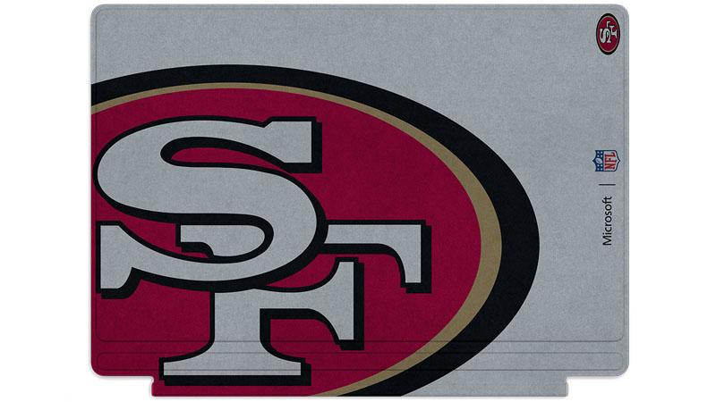 Logo des 49ers de San Francisco imprimé sur un clavier Surface Type Cover