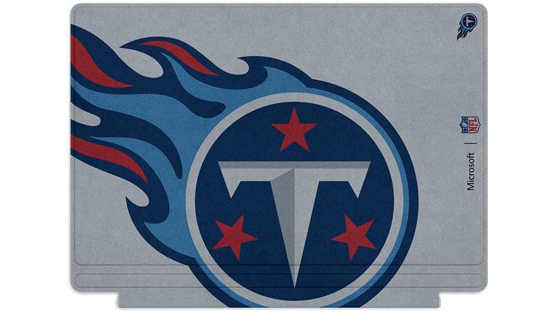 Logo des Titans du Tennessee Seattle imprimé sur un clavier Surface Type Cover