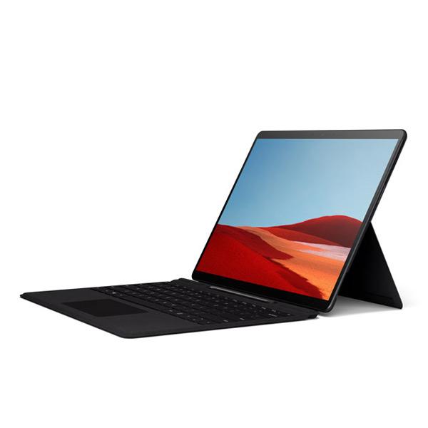 Profil latéral de la Surface Pro X avec le clavier Surface Pro X Keyboard