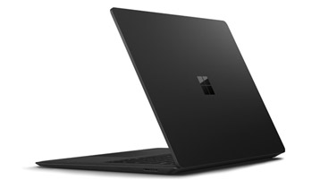 Vue arrière de l'ordinateur Surface Laptop 2