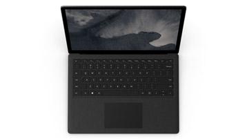 Vue du dessus de l'ordinateur Surface Laptop 2
