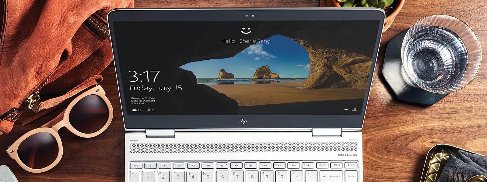Écran d'accueil Windows10 sur un appareil récent.
