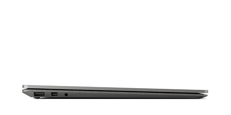 Vue latérale de Surface Laptop en or graphite