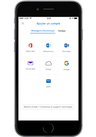 Application Outlook mobile sur iPhone, ajout d'une pièce jointe