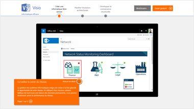 Page du TestDrive de Visio. Suivez une visite guidée de Visio Pro pour Office 365