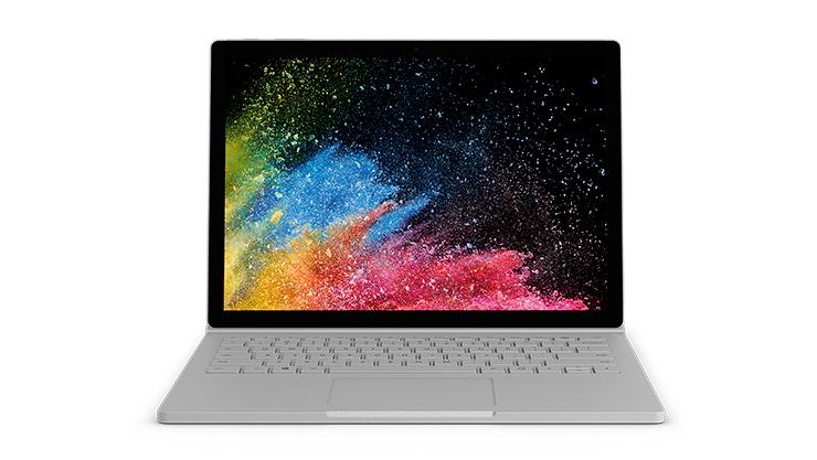 Surface Book 2, vu de face