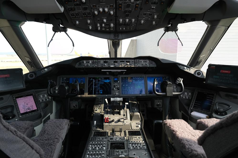 Le poste de pilotage d'un avion de Norwegian Airlines