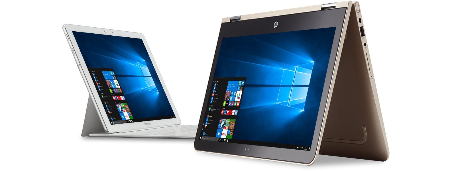 Appareils Microsoft avec le menu de démarrage Windows
