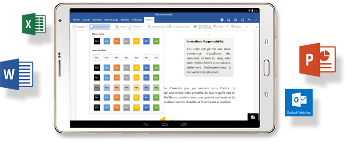 Microsoft office pour tablette android office gratuit - Office tablette android gratuit ...