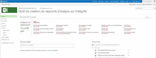 Écran Microsoft Project. Découvrez comment Project Online a aidé une équipe de Microsoft à améliorer la gestion de projet