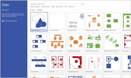 Capture d'écran de la page Visio dans Office365.