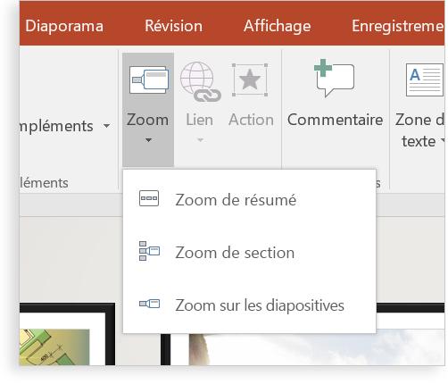 Tablette affichant une diapositive PowerPoint avec Zoom.