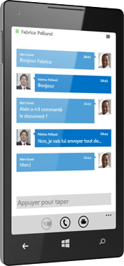 Lync 2013 pour Windows Phone